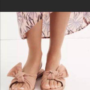 Beautiful Madewell Half Bow Pink Suede